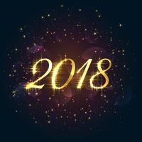 beautiful 2018 sparkles new year background