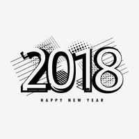 abstract 2018 happy new year text design