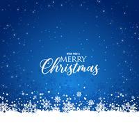 élégant fond bleu de Noël avec des flocons de neige