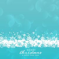 Fondo de copos de nieve azul para el festival de Navidad