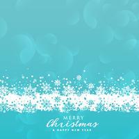 blauwe sneeuwvlokkenachtergrond voor Kerstmisfestival