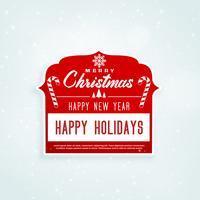 Diseño de etiqueta roja de Navidad con espacio de texto