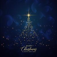 kreativer Weihnachtsbaum gemacht mit Glitterhintergrund