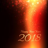 Gott nytt år 2018 bakgrund med ljus effekt