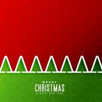 Fondo feliz Navidad con árbol en estilo de corte de papel