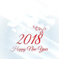 2018 Gelukkig Nieuwjaar wenskaart ontwerp achtergrond