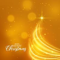 Fondo dorado de Navidad con diseño creativo del árbol.