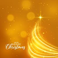 gyllene julbakgrund med kreativ träddesign