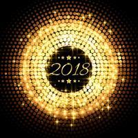 schöne glitter glühende partyfeier des neuen jahres 2018 backgr