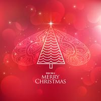 creative decorative christmas tree design background