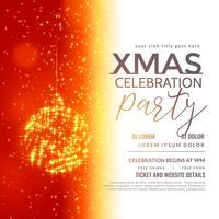 festival hälsning design för jul säsong med hängande glitt