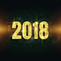 awesome 2018 text in glitter and sparkle style background