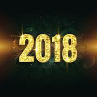 fantastisk 2018 text i glitter och gnistrande stil bakgrund
