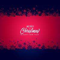 Fondo de vector de feliz Navidad los copos de nieve