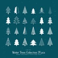 set of 20 creative christmas tree designs