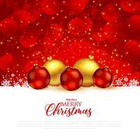Fondo de saludo festival de Navidad rojo hermoso con premiu