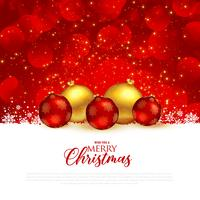 beautiful red christmas festival greeting background with premiu