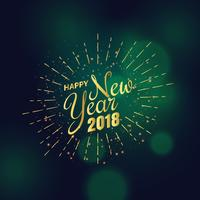 golden 2018 new year greeting background design