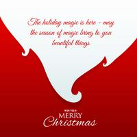 Santa Claus skägg med meddelande för Chrismas hälsning