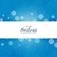 Fondo de Navidad azul con copos de nieve