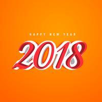 3d nytt år 2018 kreativ textdesign