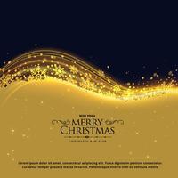 Diseño de tarjeta de felicitación de Navidad de lujo con copos de nieve y glowin