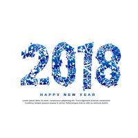 Résumé 2018 effet de texte dans le style cassé