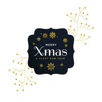 stylish premium merry christmas greeting vector design with deco
