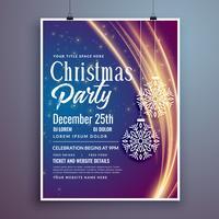 ontwerpsjabloon flyer met kerstfeest evenement uitnodiging sjabloon