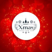 röd jul helgdag bakgrund med gnistrar