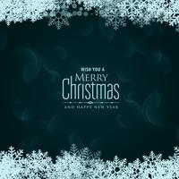 merry christmas snowflakes vector background