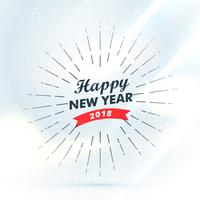happy new year 2018 greeting design background