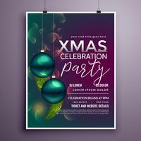 hermosa plantilla de diseño de flyer fiesta de navidad