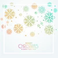colorful christmas greeting snowflakes design beautiful design