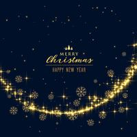 hermoso festival brillo y copos de nieve fondo de navidad
