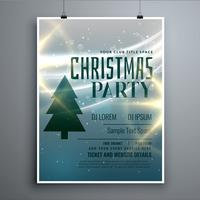 stylish christmas party flyer design template with light effect