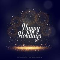 Felices fiestas saludo estacional para navidad y año nuevo.