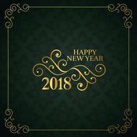 Fondo estilo vintage feliz año nuevo diseño 2018