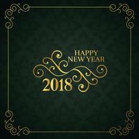 vintage style happy new year 2018 design background