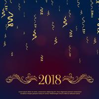 Lyxig stil 2018 Gott nytt år hälsning med gyllene blommiga dekorerar