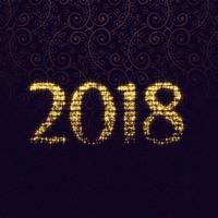 2018 glitter sparkle lettering vector diseño