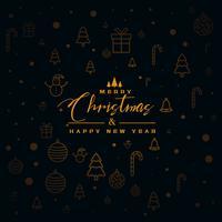 fondo oscuro de Navidad con elementos de diseño