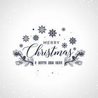 letras de feliz Natal com design decorativo