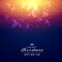eleganta gnistrar och ljus effekt bakgrund för jul festi