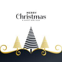 creative christmas festival greeting background with tree and fl