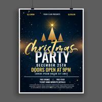 Diseño de plantilla de invitación de celebración de fiesta de Navidad oscuro