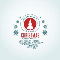 creative merry christmas greeting design with decoration