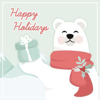 Vector Polar Bear Illustration