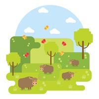 Wild Yak Background Vector