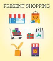Present Shopping Vector
